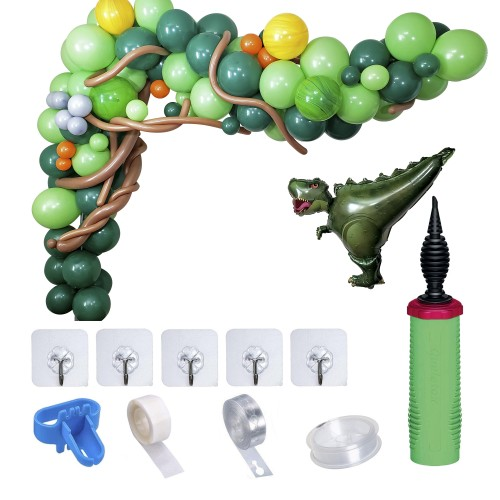 Dinosaur Balloon Garland arch DIY Kit with Strip and Supplies