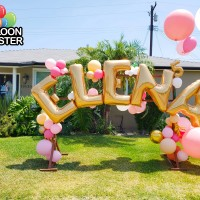 Birthday lawn balloon sign
