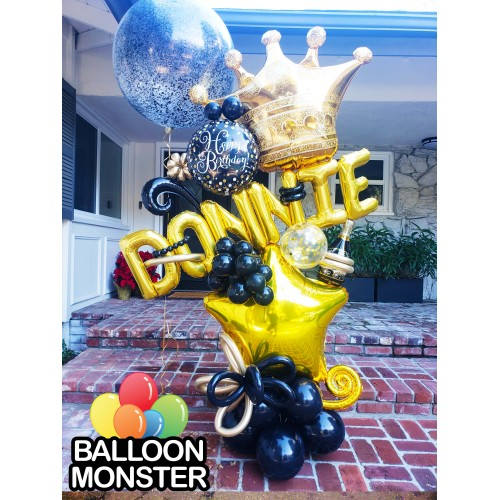 Themed Bouquet - Black & Gold